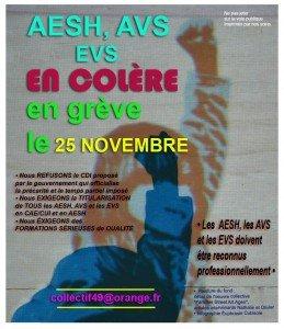 grève 25 novembre 2014