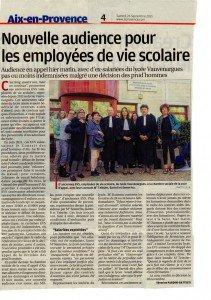 Article du 26 septembre 2015 La Provence