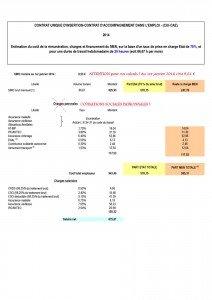 Modèle salaire 2014 pou CAE-CUI